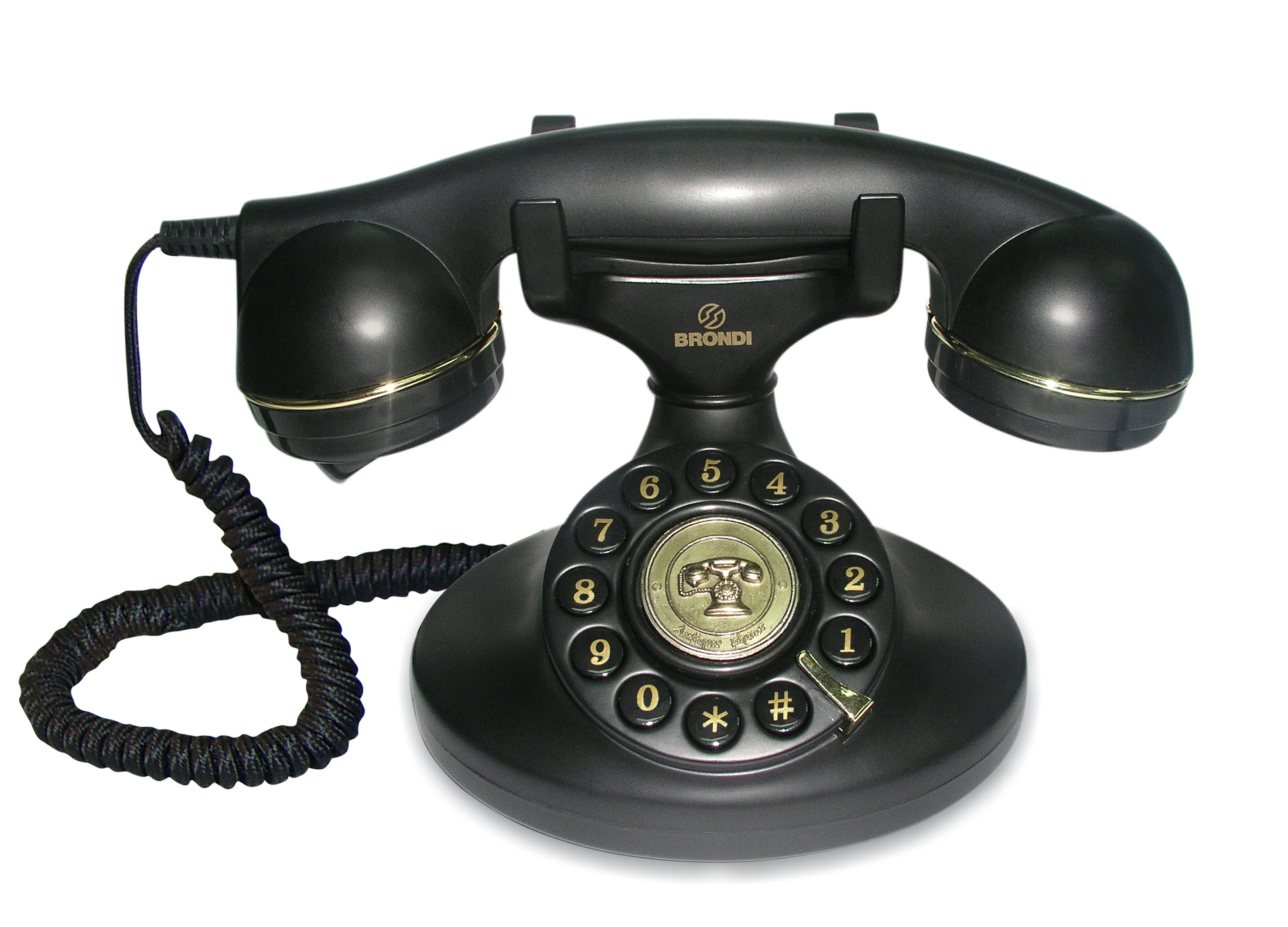 Brondi vintage 10 black desk phone