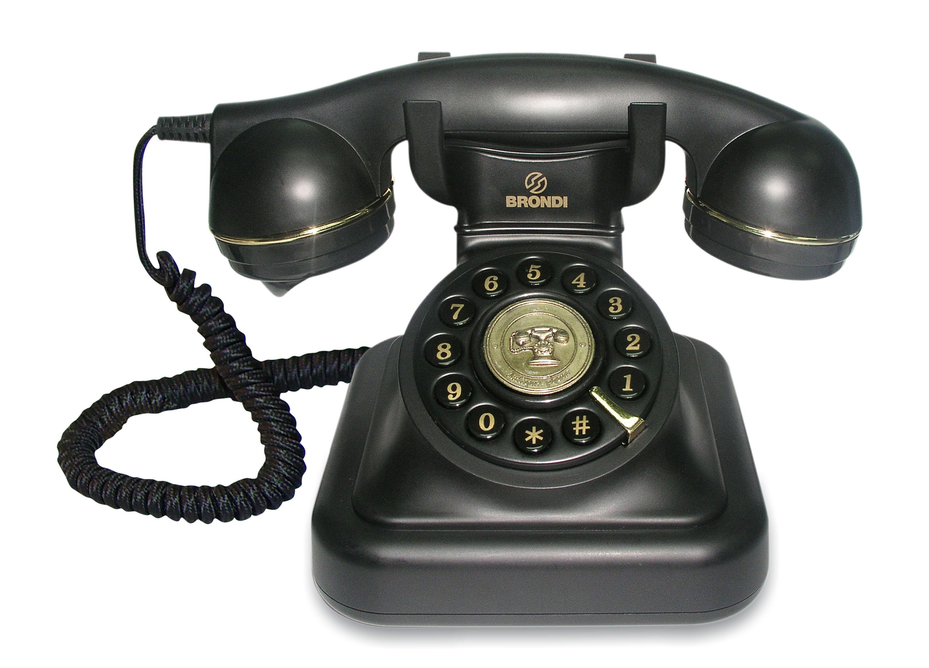 Brondi Vintage 20 Black Desk Phone