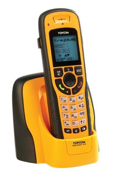 Topcom Butler Outdoor 2010 Orange Single Dect Cordless Phone